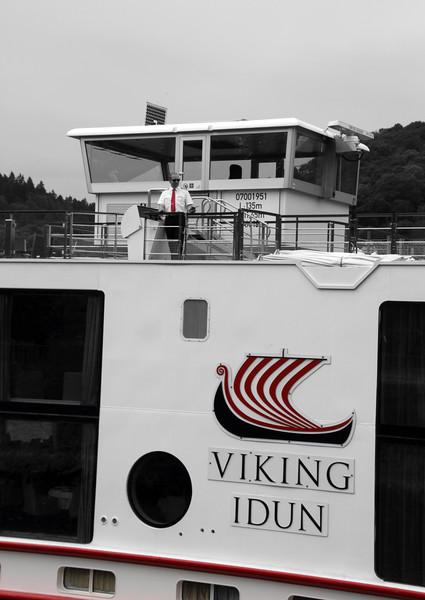 Viking River Cruise, Captain on Deck