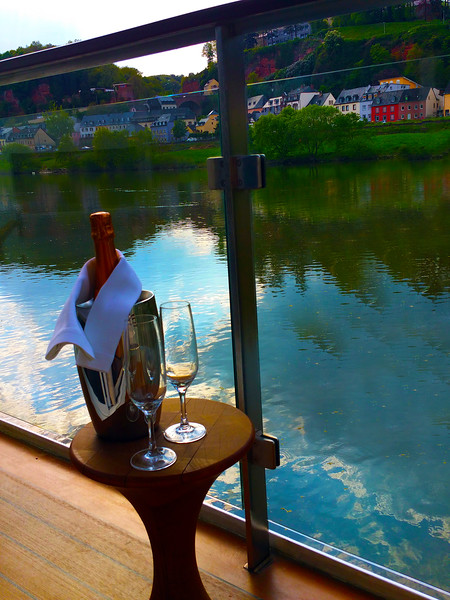 """Trier Germany, View from Viking River Cruise Ship """"Idun"""""""