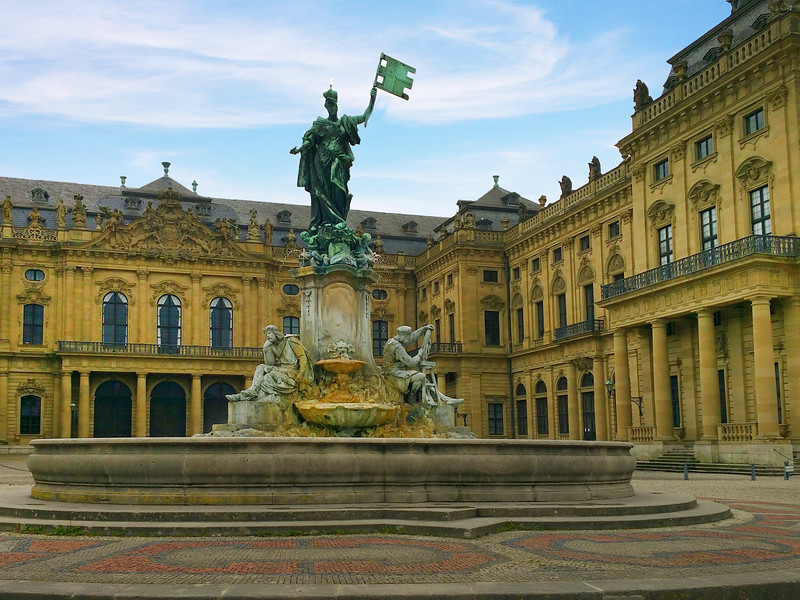Würzburg Germany, Bishops' Residenz and Fountain