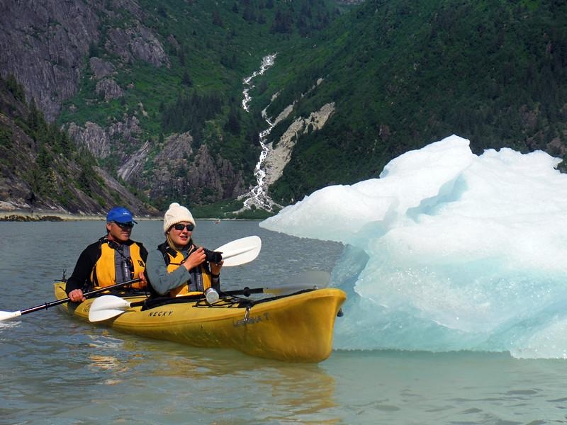 Un-Cruise Adventures, Kayakers & Iceberg, Endicott Arm