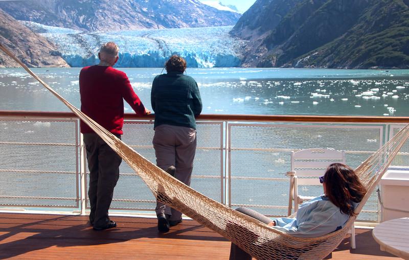 Un-Cruise Adventures,  Dawes Glacier from Sun Deck