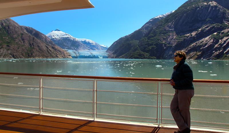 Un-Cruise Adventures,  Dawes Glacier from Third Deck of Safari Endeavor