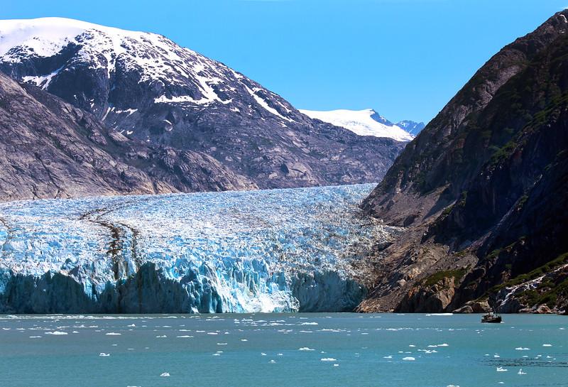 Un-Cruise Adventures, Dawes Glacier with Fishing Boat