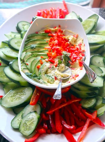 Vegetable Wasabi Aioli, Happy Hour