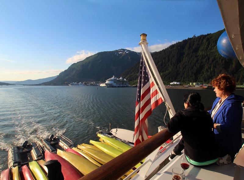 Un-Cruise Adventures, Departure from Juneau Harbor