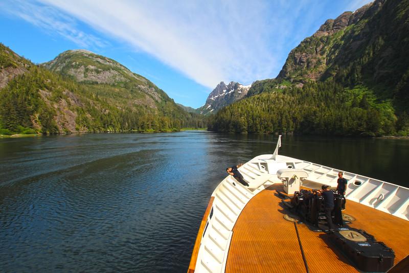 Un-Cruise Adventures, Crew Anchoring at Baranof Island