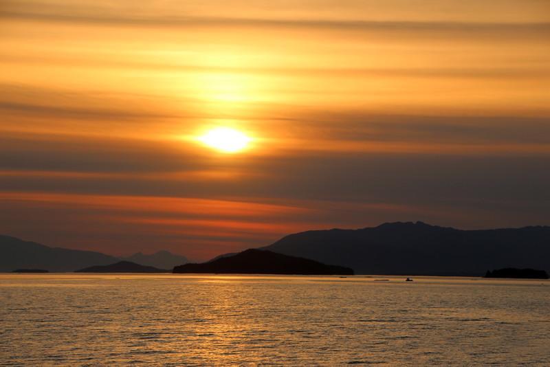 Un-Cruise Adventures, Sunset Over Endicott Arm Alaska