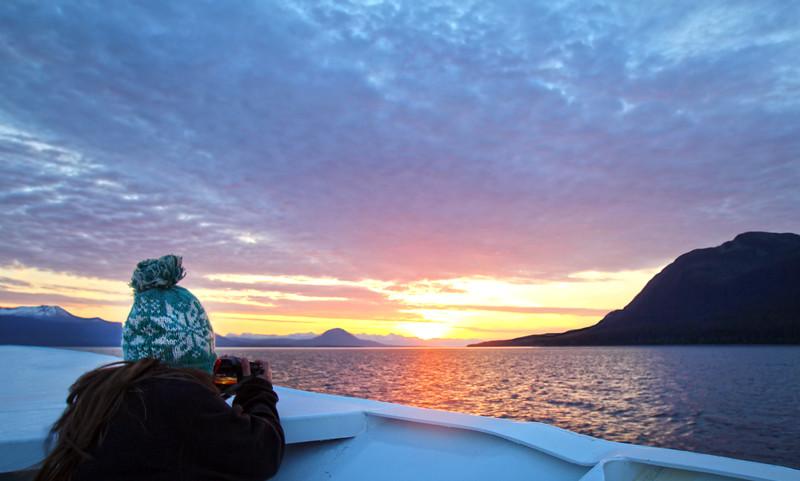 Un-Cruise Adventures, Sunset in the Gastineau Strait