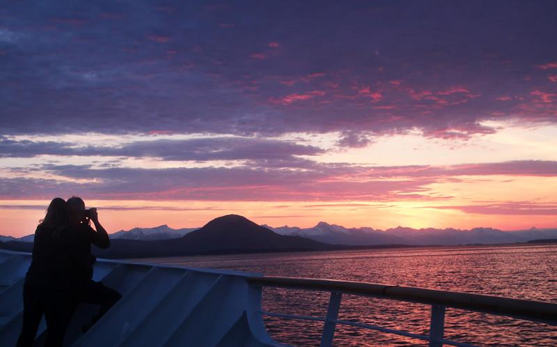 Un-Cruise Adventures, Couple at Sunset, Stephens Passage