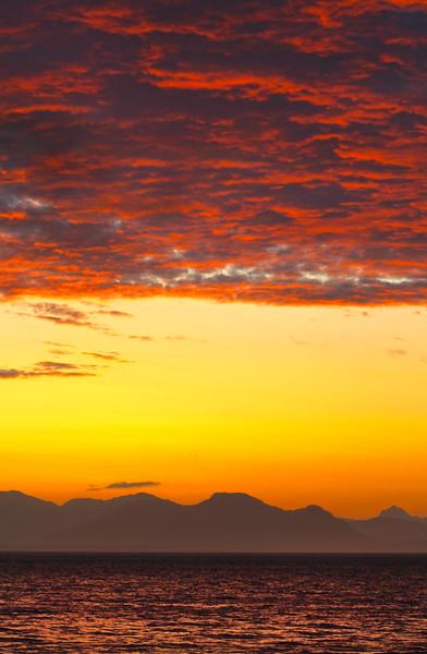Un-Cruise Adventures, Vibrant Sunset Over Glacier Bay National Park