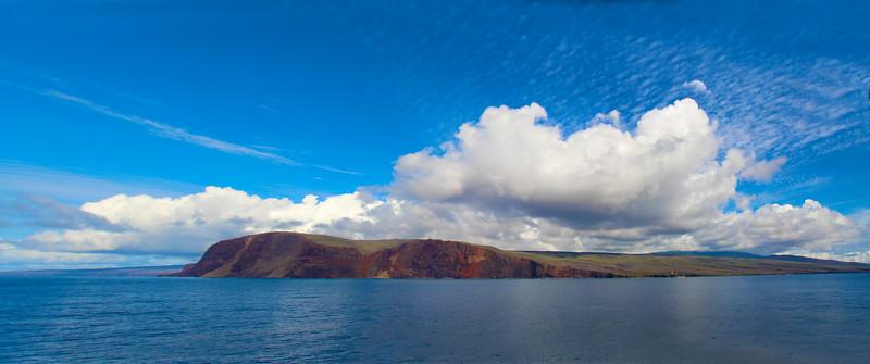 Hawaii, UnCruise Adventures, Lana'i Island, Panorama from Safari Explorer