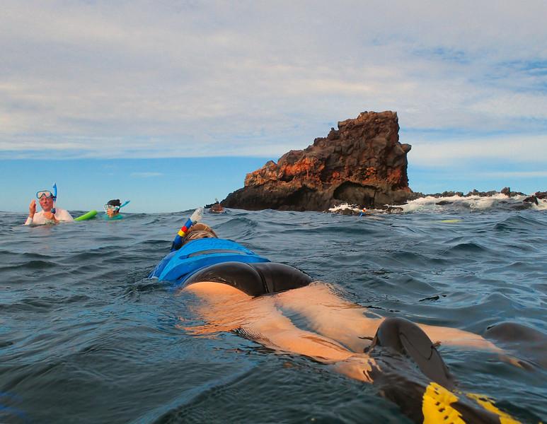 Hawaii, UnCruise Adventures, Lanai Snorkeling, Shark Tooth Rock