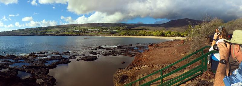 Hawaii, UnCruise Adventures, Tide Pools, View on Four Seasons Resort