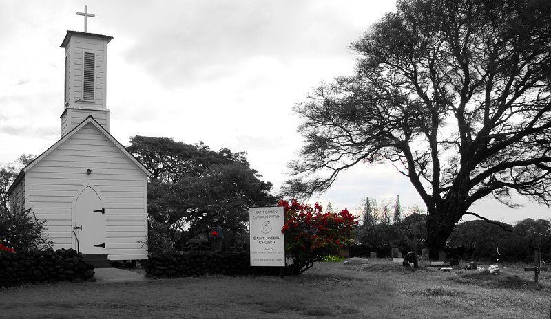 Hawaii, UnCruise Adventures, St. Damien St. Joseph Church, Molokai