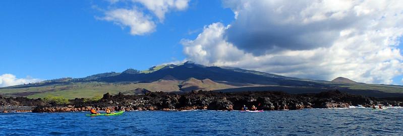 Hawaii, UnCruise Adventures, Kayakers, South Maui Panorama