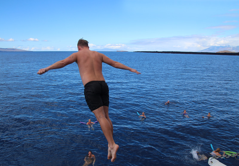 Hawaii, UnCruise Adventures, Jumping Off Deck, South Maui