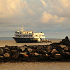 Hawaii, UnCruise Adventures, Safari Explorer Docked at Sunset, Lanai Island