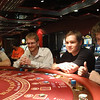 Kurt (black shirt) and 3 of his high school friends. Being taught the finer points... of how to LOSE $ !