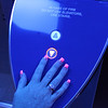"Cheryl's ""blacklight nails"" :)"