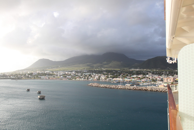 About to leave St. Kitts.