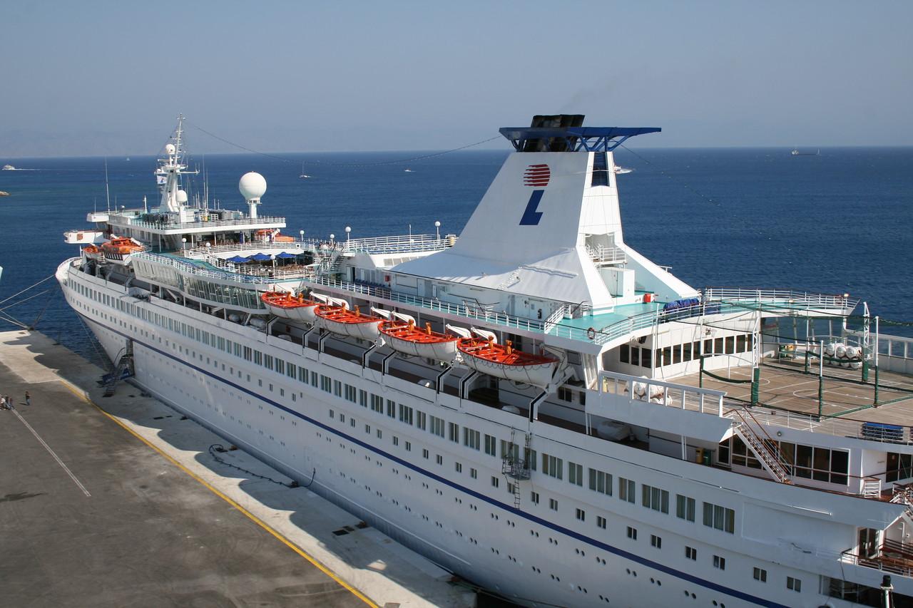 AQUAMARINE moored in Rodos.