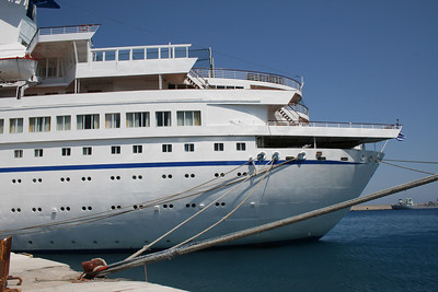 AQUAMARINE moored in Rodos.