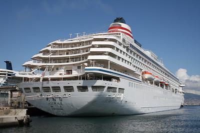 Japanese cruise ship ASUKA II in Napoli.