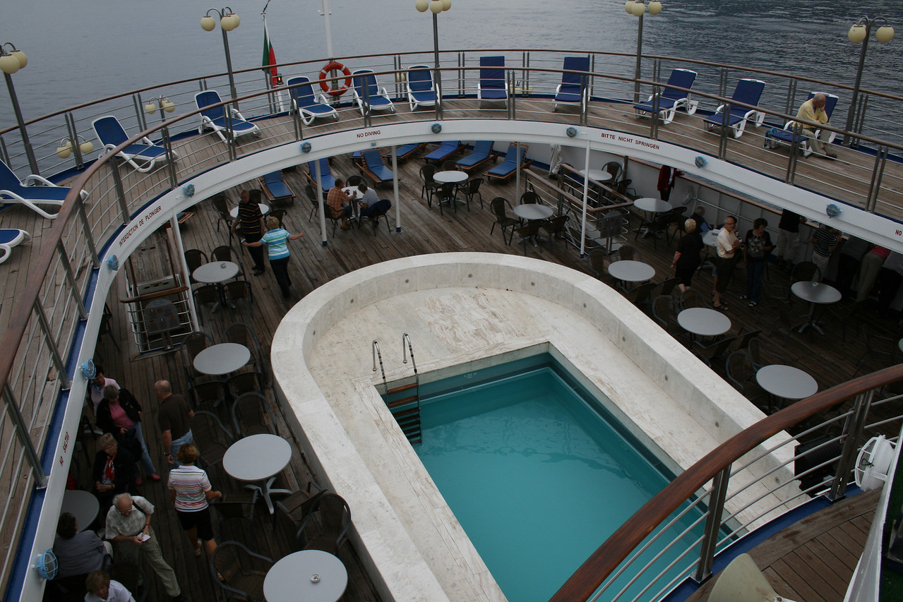 On board M/S ATHENA : the small swimming pool.