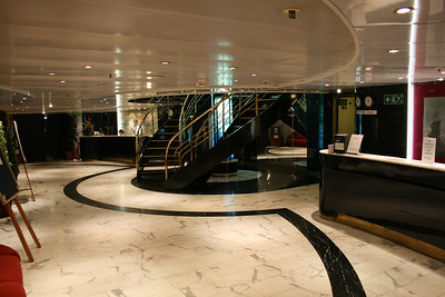 On board M/S ATHENA : reception, Mediterranean deck.