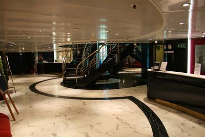 On board M/S ATHENA : reception, Mediterranean deck.