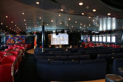 On board M/S ATHENA : Auditorium cinema.