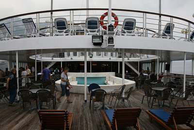 On board M/S ATHENA : pool area.