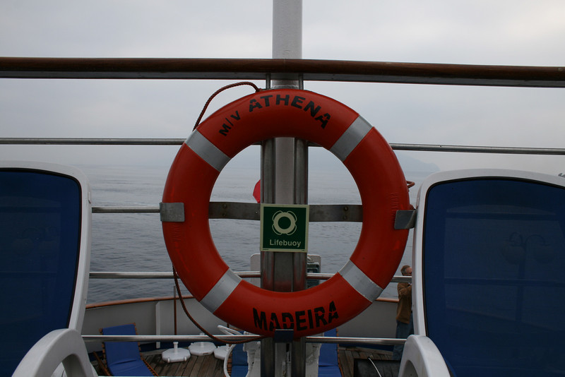 On board M/S ATHENA : lifebelt.
