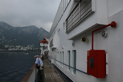 On board M/S ATHENA : walkway, Promenade deck.