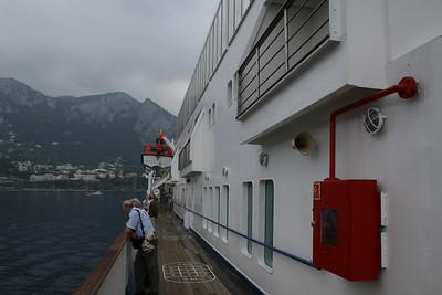 On board M/S ATHENA : walkway, Promenade deck.