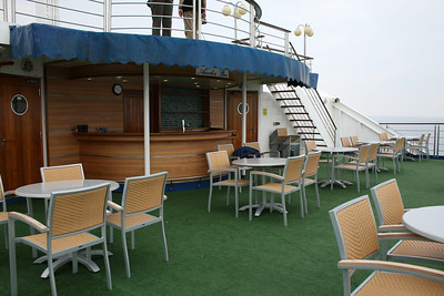 On board M/S ATHENA : Aeolos bar, Navigators deck.