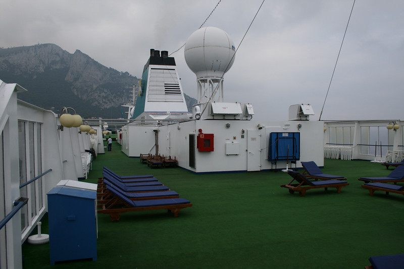 On board M/S ATHENA : Observation deck, solarium.
