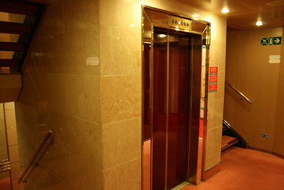 On board M/S ATHENA : elevator.