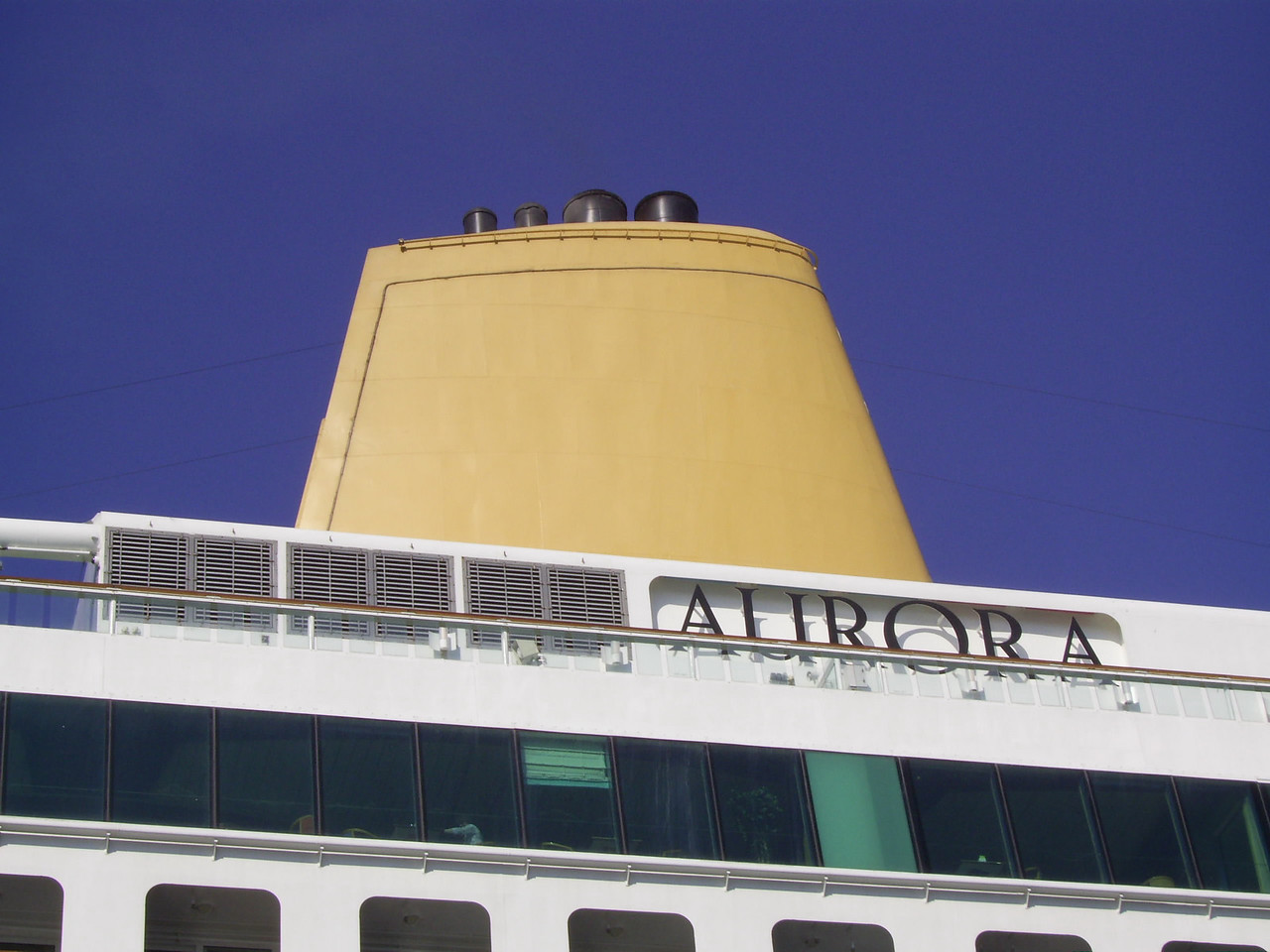 M/S AURORA : the funnel.
