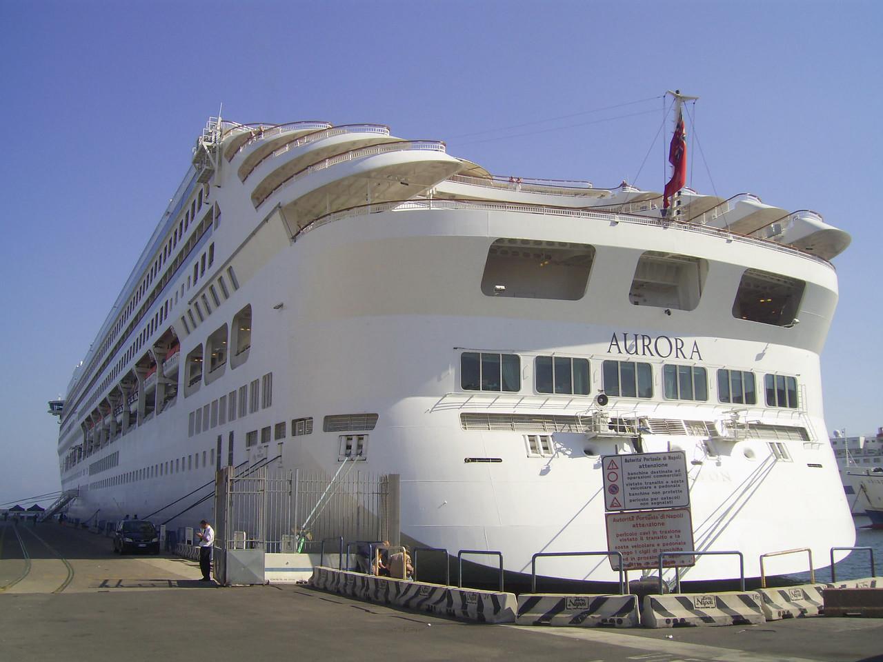 M/S AURORA moored in Napoli.