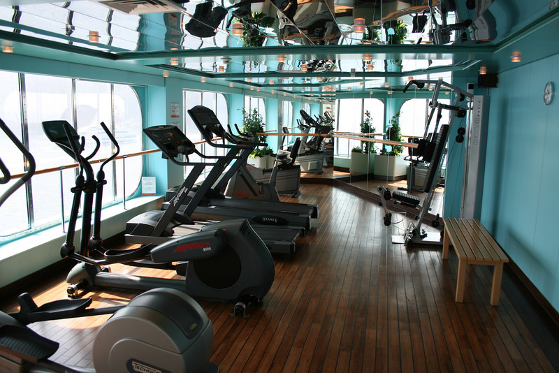 2011 - On board M/S C.COLUMBUS : Fitness room, Sun deck.