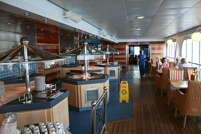 2011 - On board M/S C.COLUMBUS : Buffet, Sun deck.