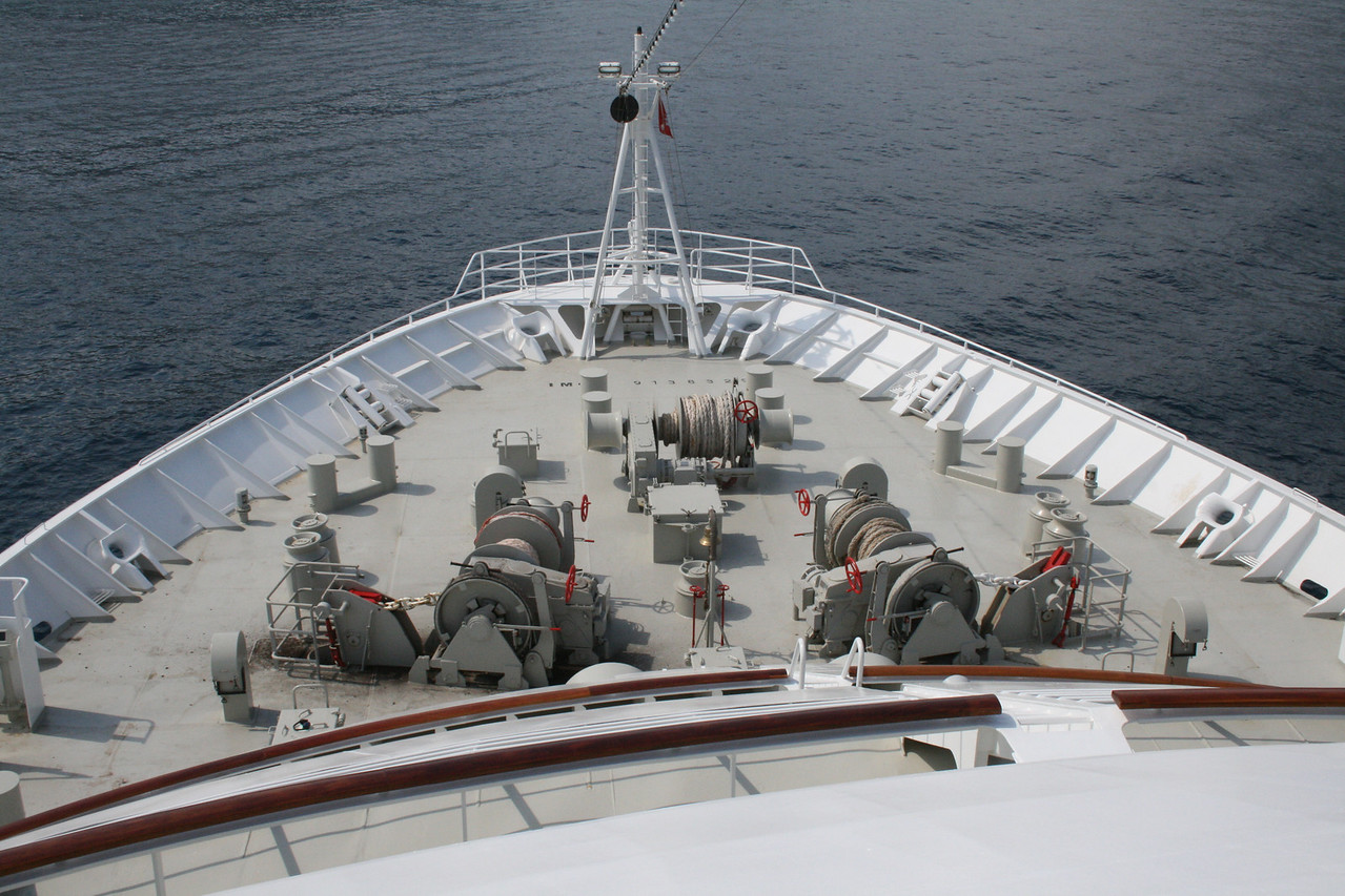 2011 - On board M/S C.COLUMBUS : bow operating station.
