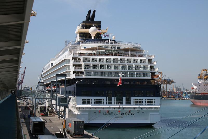 M/S CELEBRITY CENTURY moored in Genova.