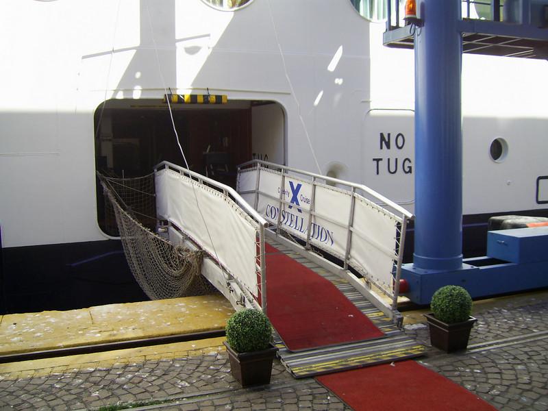 GTS CELEBRITY CONSTELLATION in Napoli. Crew's gangway.