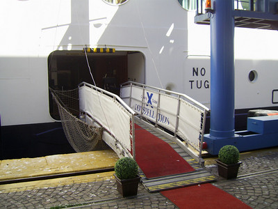GTS CELEBRITY CONSTELLATION in Napoli. Crew's gangway.