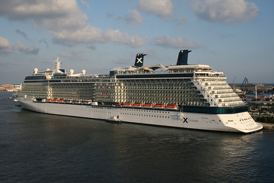 2009 - M/S CELEBRITY SOLSTICE moored in Alexandria.