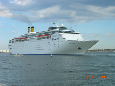 M/S COSTA CLASSICA departing from Helsinki.