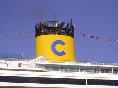 2010 - M/S COSTA CONCORDIA : the funnel.