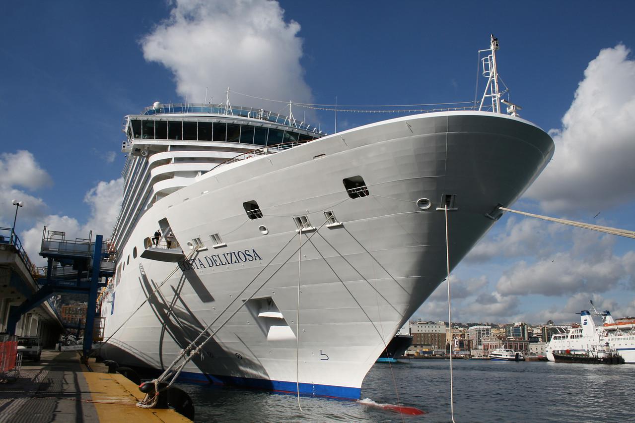 M/S COSTA DELIZIOSA moored in Napoli.